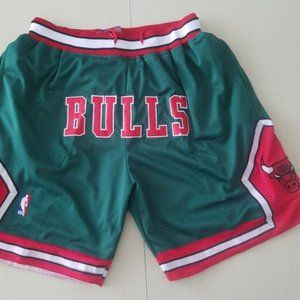 New NBA Just Don Chicago Bulls Basketball Shorts
